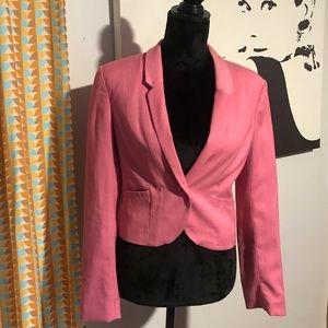 Pink blazer with decorative inseam